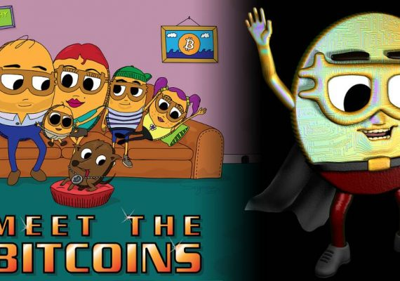 Serie animada sobre una familia de criptomonedas: Meet The Bitcoins