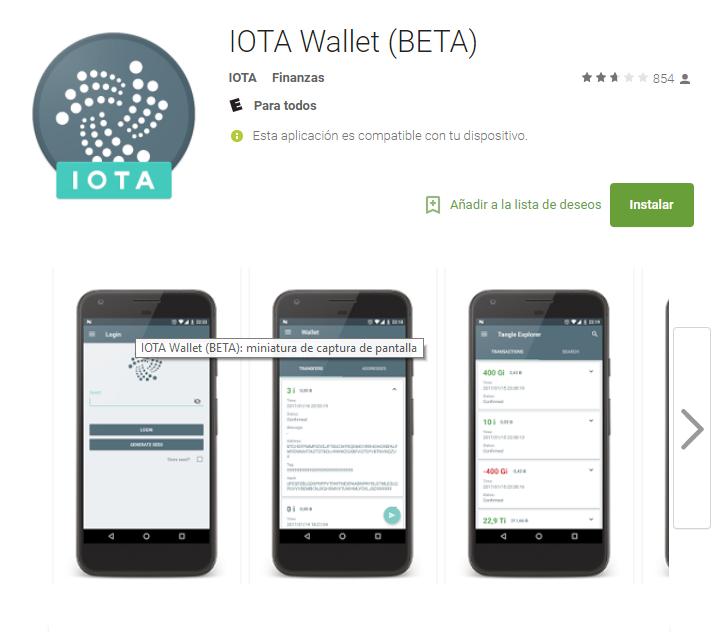 Wallet de Iota