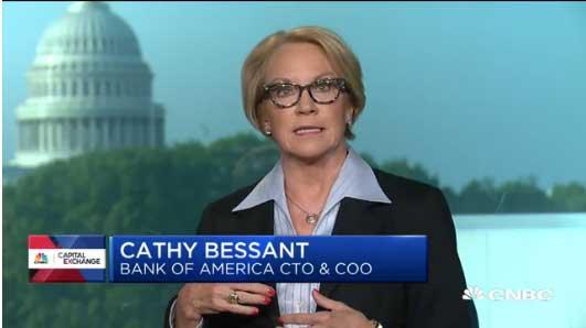 canthy bessant jefa de operaciones en back of america habla sobre el bitcoin en enrtrevista con CNBC