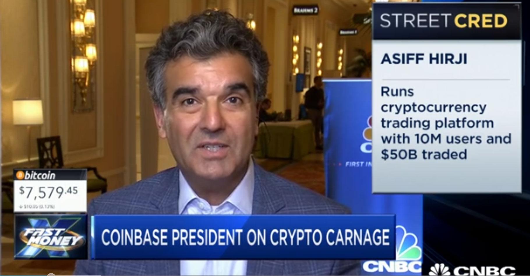 Asiff Hirji en entrevista para CNBC