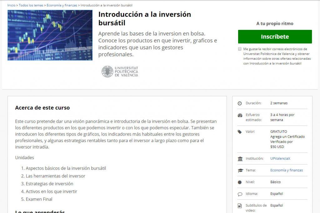 curso de inversión bursatil