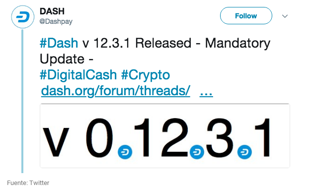 Dash lanza la version de red 12.3