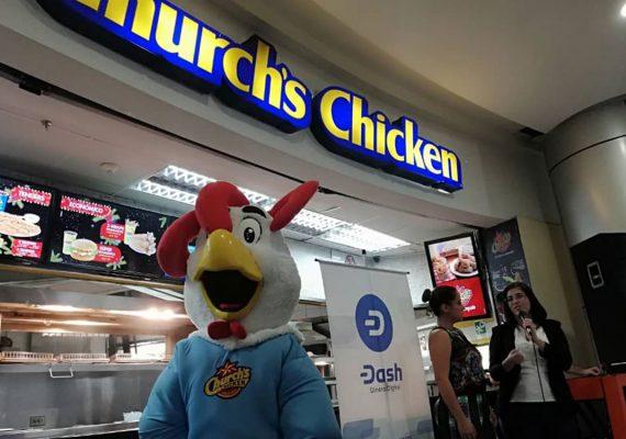 Dash será un método de pago en la cadena comercial Church's Chicken en toda Venezuela