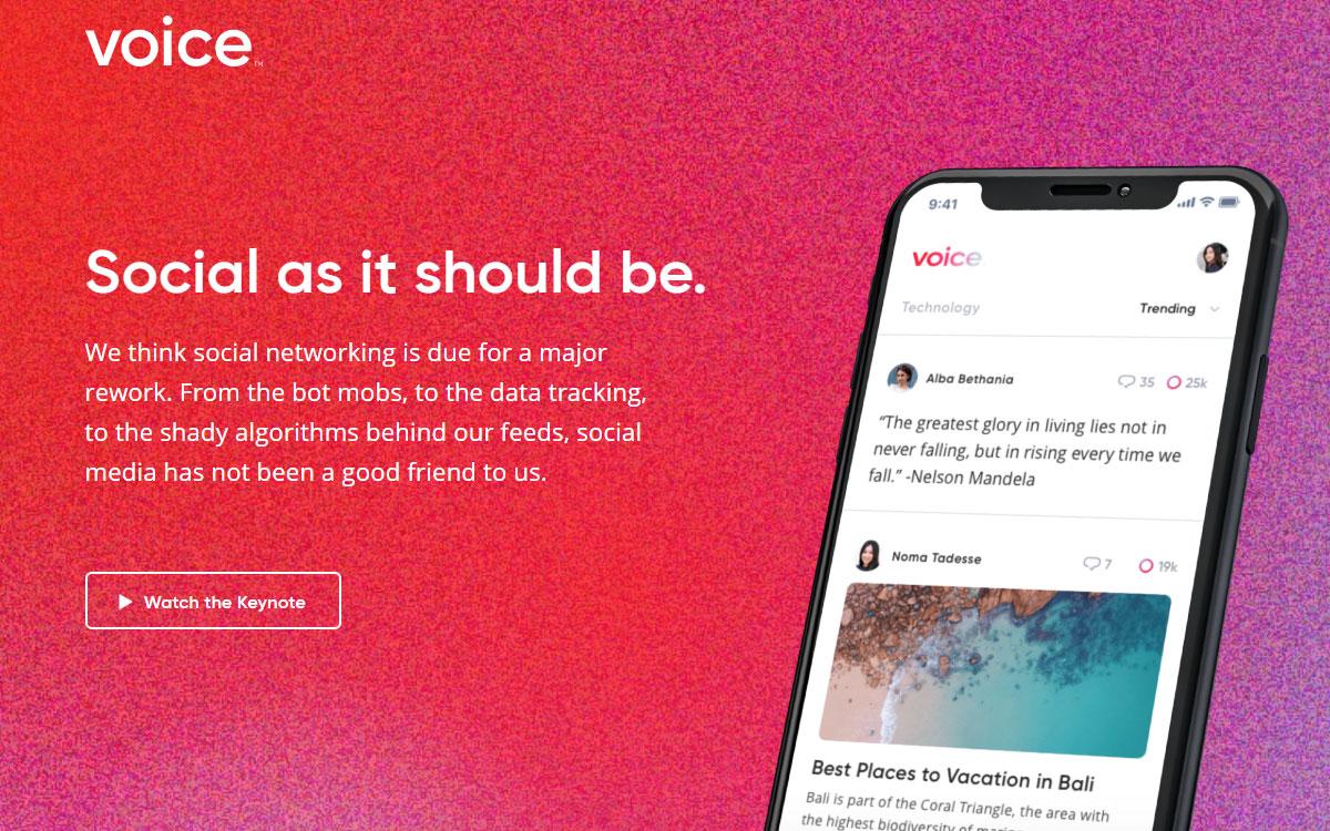 Voice la nueva red social basada en la blockchain de EOS