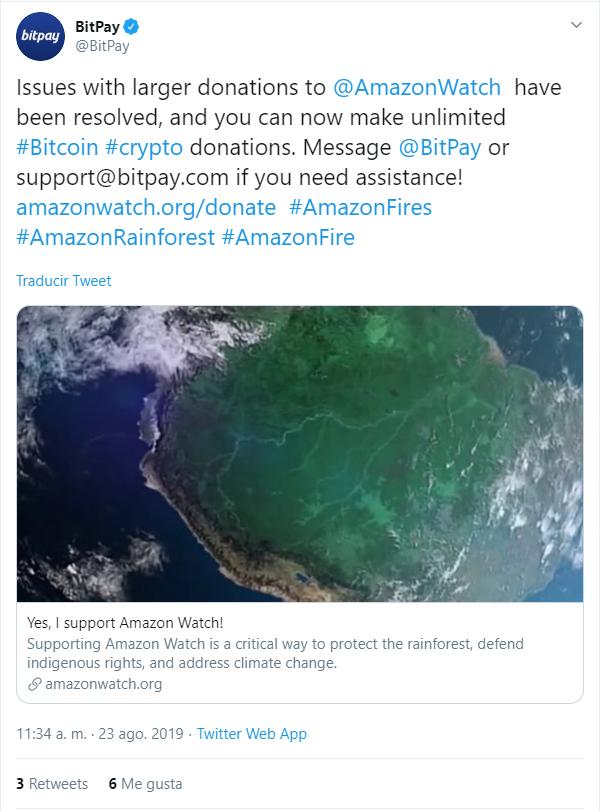 Respuesta de bitpya a amazon watch