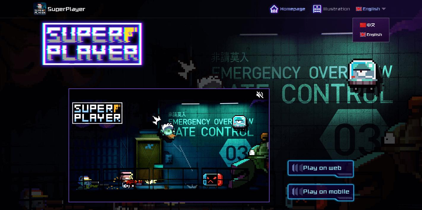 Portal web del videojuego blockchain SuperPlayer