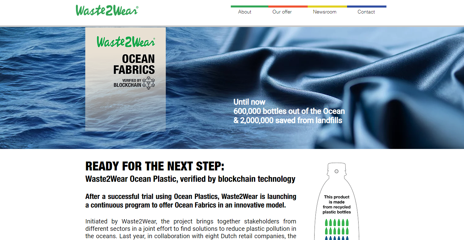Empresa holandesa Waste2Wear presenta la primera colección de telas plásticas recicladas verificables con tecnología blockchain