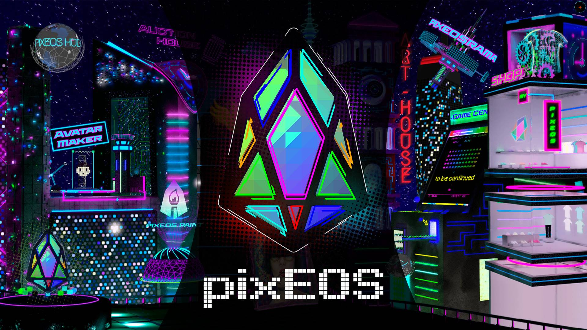 El futurista mundo del Game Center de pixEOS