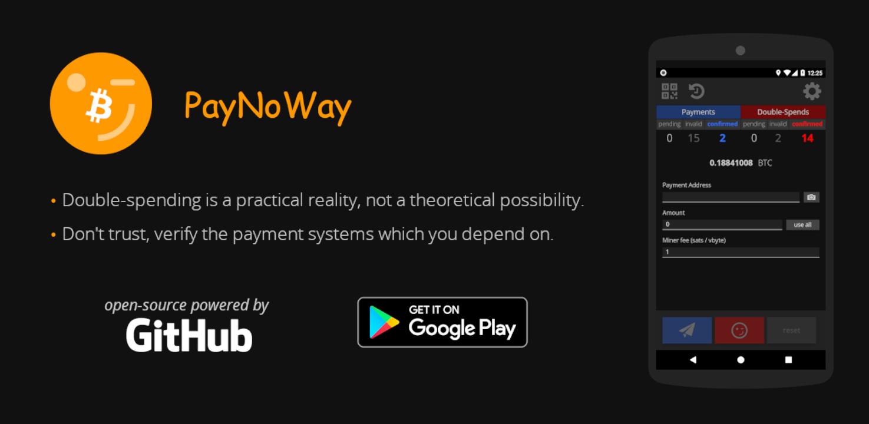 PayNoWay app para evitar el doble gasto