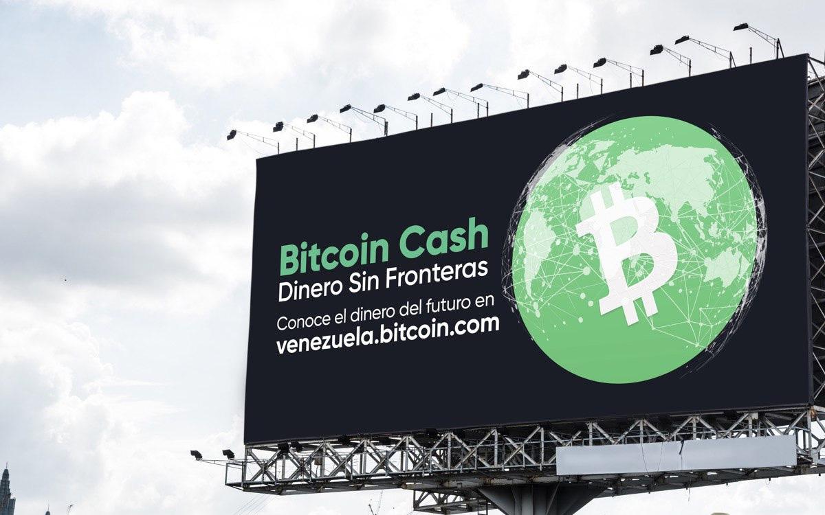 Bitcoin Cash hace presencia en la ciudad de Caracas por medio de un valla publicitaria
