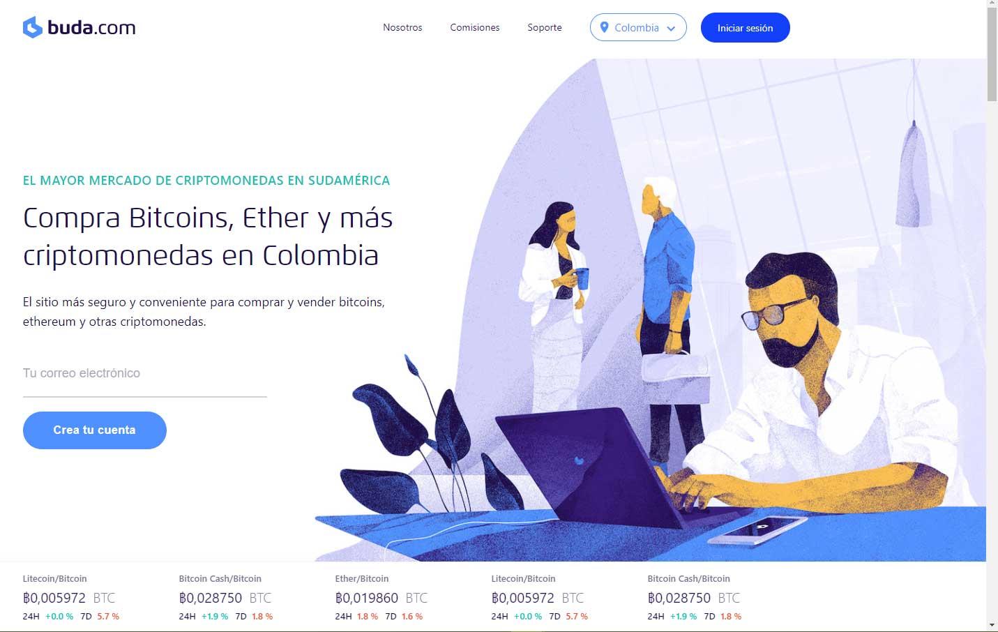 Comprar bitcoin con buda.com en Colombia