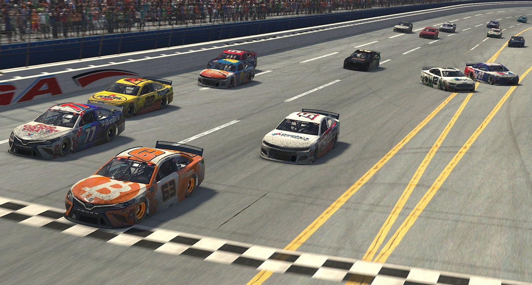 Bitcoin es el vencedor de la carrera virtual de NASCAR