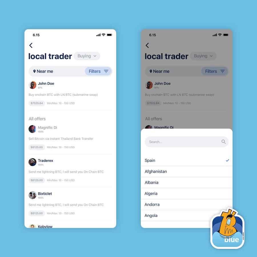 actualización blue wallet y su alianza con hodlhodl