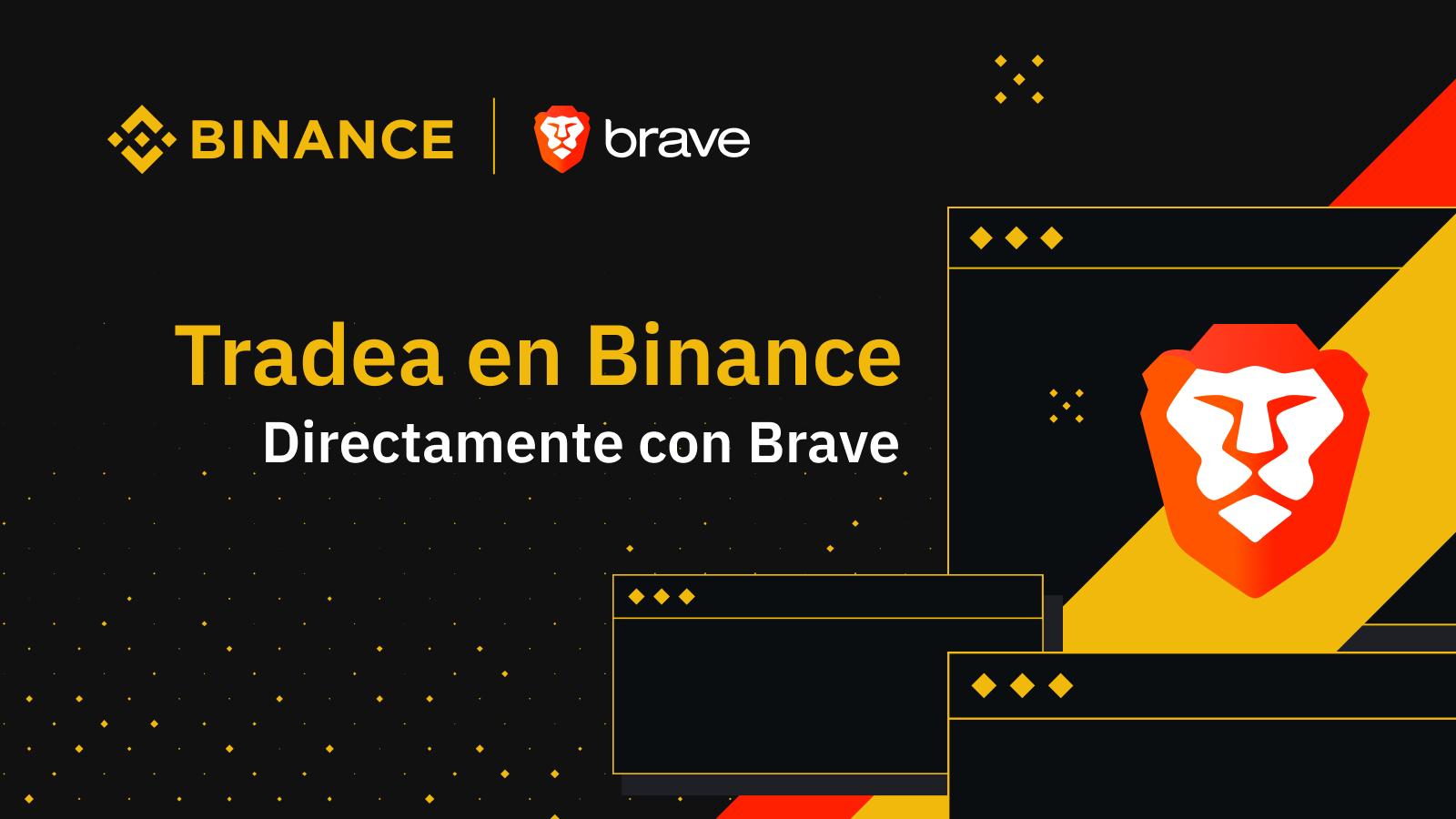 Brave añade una aplicación sobre criptomonedas de Binance