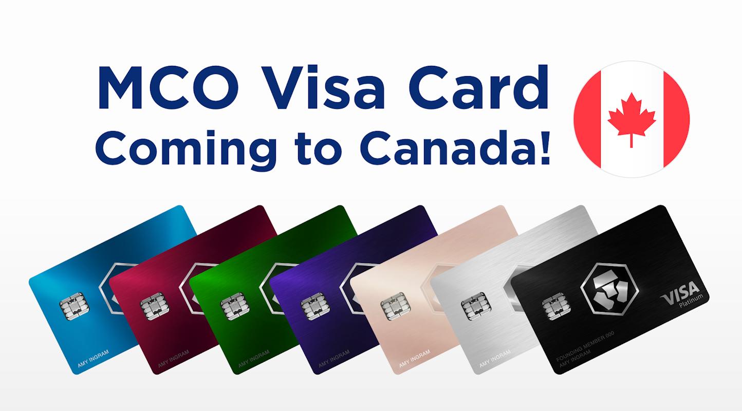 Tras expandirse por Europa, la tarjeta Visa MCO de Crypto.com llegará próximamente Canadá
