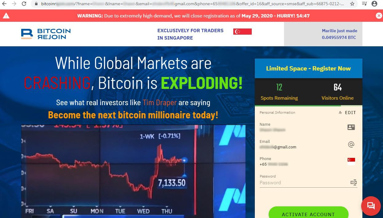 Casi 250 mil personas se vieron afectadas por estafa que involucra Bitcoin