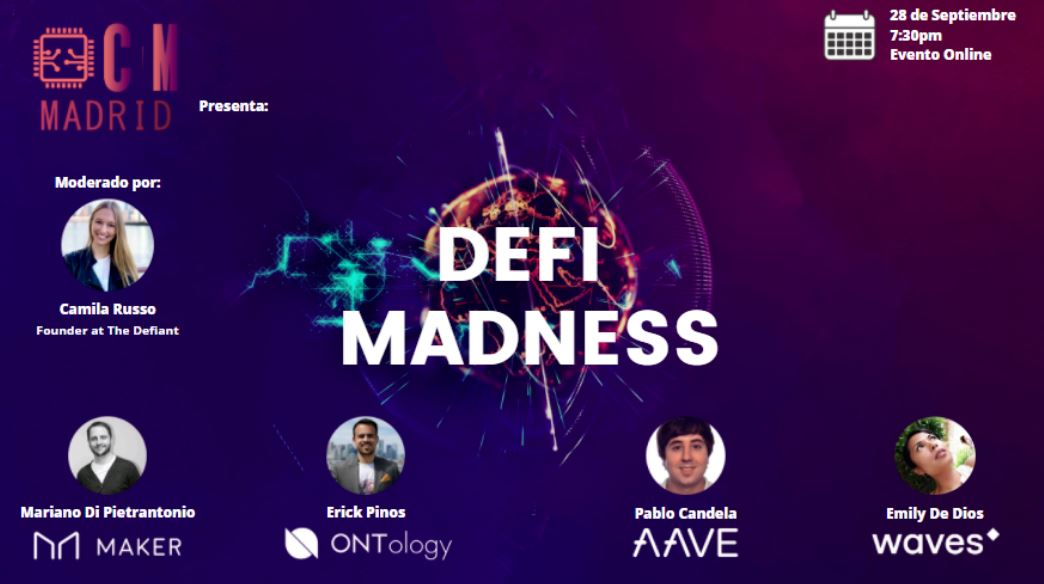 DEFI-MADNESS cryptomondays madrid criptotendencias