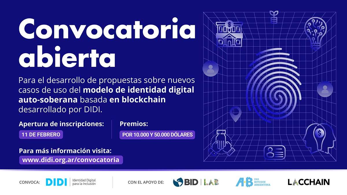 Convocatoria abierta para desarrollos tecnológicos basados en identidad digital auto-soberana